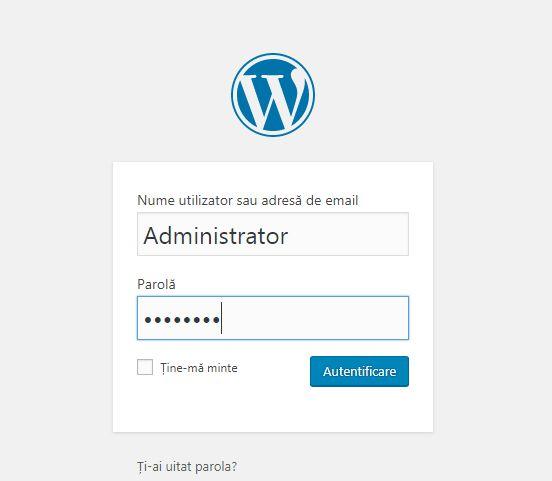 logare wordpress