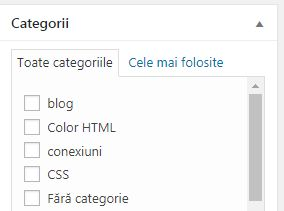 categorie articole wordpress