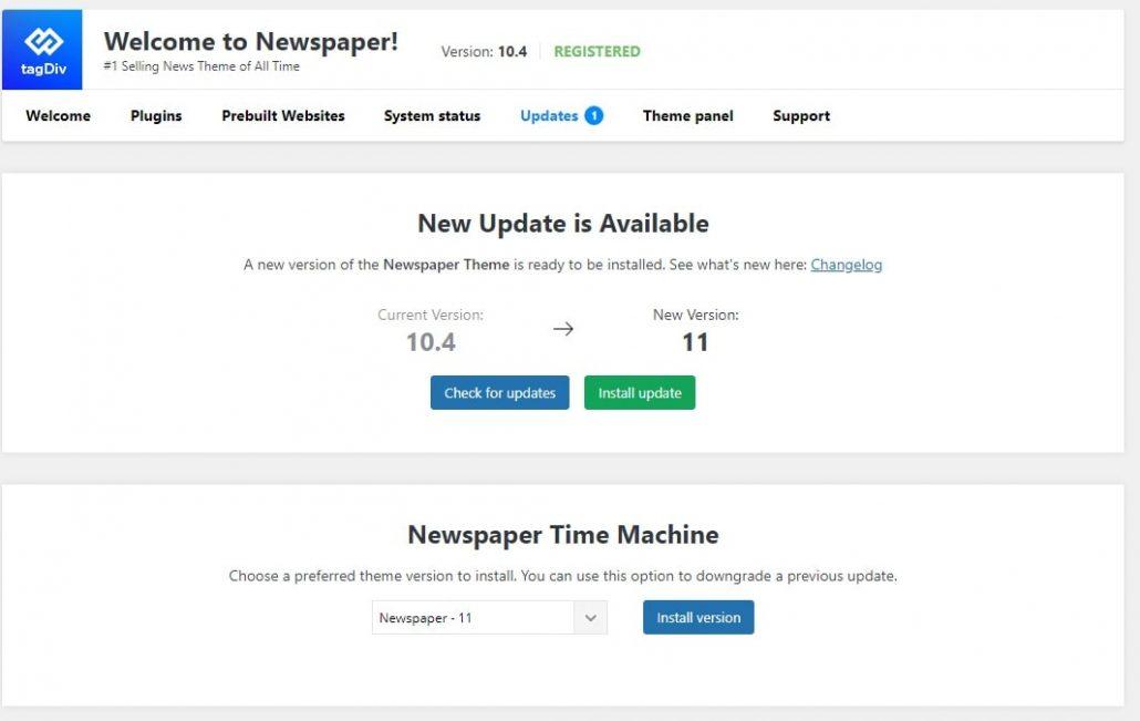 update newspaper 11
